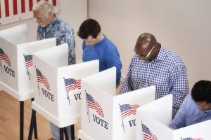 Cabine de votação - Voting booth.