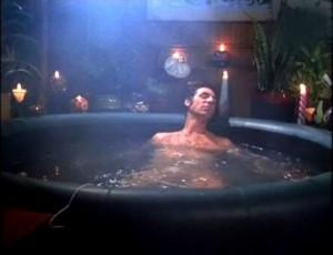 """Kramer e sua """"hot tub""""."""